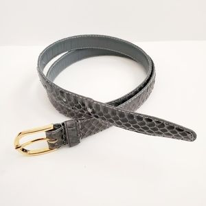 Bamberger's expressly snake skin gray belt sz. L